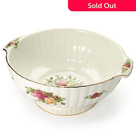 429-789 - Royal Albert Old Country Roses 9.75'' Porcelain Fluted Serving Bowl