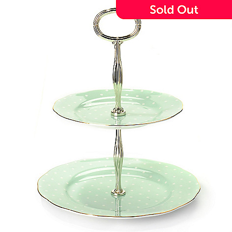 429-795 - Royal Albert® Polka Rose 9.5'' Porcelain Two-Tier Cake Stand