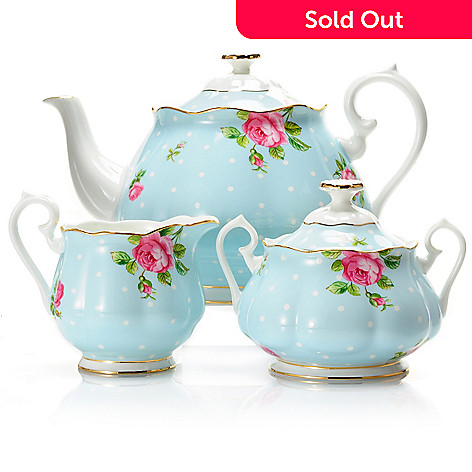 429-796 - Royal Albert Three-Piece Porcelain Tea Service Set