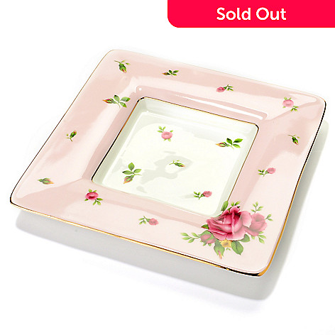 429-798 - Royal Albert® New Country Roses 6.5'' Porcelain Pink Square Trinket Tray