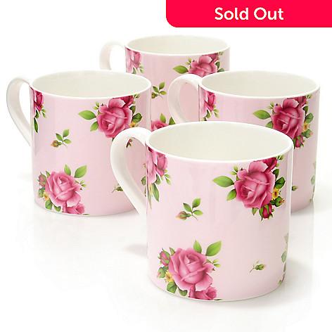 429-872 - Royal Albert New Country Roses Set-of-Four Modern Mugs