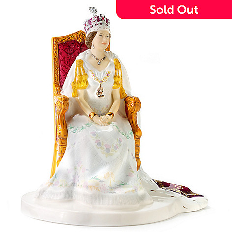429-880 - Royal Doulton® Queen Elizabeth II Jubilee Coronation Figurine