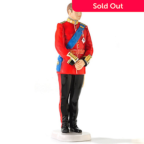 429-881 - Royal Doulton Limited Edition Royal Wedding Day Prince William 9.6'' Figurine