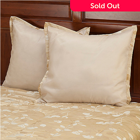 429-887 - North Shore Linens™ ''Tonal Leaf'' Euro Sham Pair