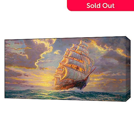 429-984 - Thomas Kinkade ''Courageous Voyage'' 16'' x 31'' Gallery Wrap