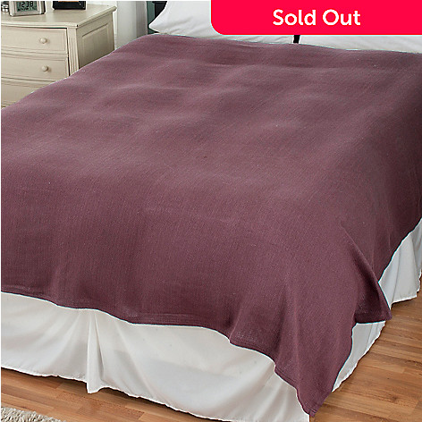430-132 - North Shore Linens™ Cotton Knit Thermal Blanket