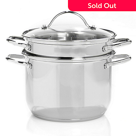430-153 - Macy's Tools of the Trade® Basics Stainless Steel 8-Quart Multi Pot w/ Lid