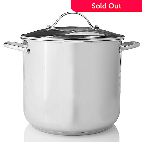 430-154 - Macy's Tools of the Trade Basics Stainless Steel 16-Quart Stockpot w/ Lid