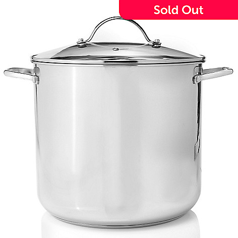 430-155 - Macy's Tools of the Trade® Basics Stainless Steel 20-Quart Stockpot w/ Lid