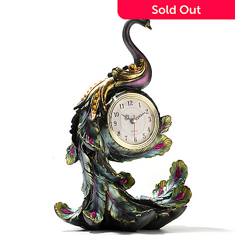 430-179 - Flowetic Peacock Accent Clock