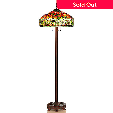 430-269 - Tiffany-Style 64'' Tulip Stained Glass Floor Lamp