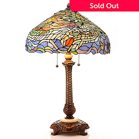 430-271 - Tiffany-Style 28.25'' Dragon Stained Glass Table Lamp