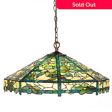 430-272 - Tiffany-Style 26'' Clamata Trellis Stained Glass Hanging Lamp