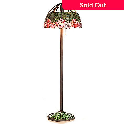430-279 - Tiffany-Style 64'' Lotus Stained Glass Floor Lamp