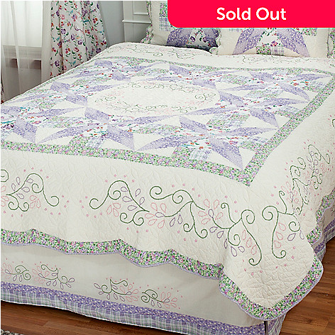 430-302 - North Shore™ Collectible Quilts ''Bloom'' Limited Edition 100% Cotton Quilt