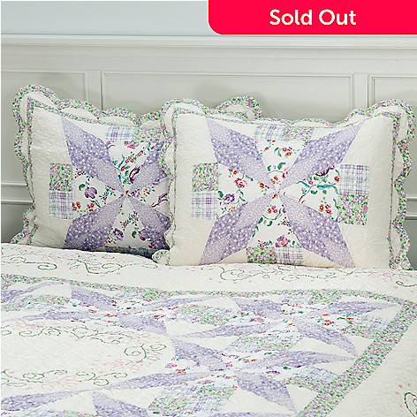 430-304 - North Shore™ Collectible Quilts ''Bloom'' 100% Cotton Sham Pair