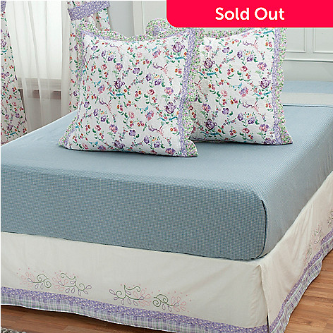 430-308 - North Shore™ Collectible Quilts ''Bloom'' Euro Sham Pair & Bed Skirt Set