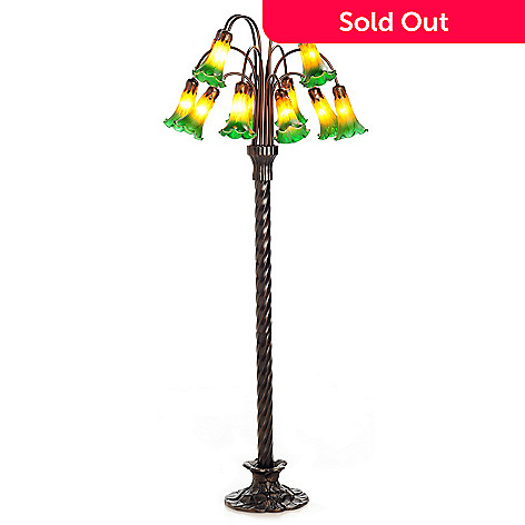 430-311 - 59.75'' Hand Blown 12-Lily Floor Lamp