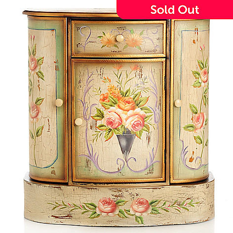 430-313 - Style at Home with Margie 29.75'' French Meadow Hand-Painted Cabinet