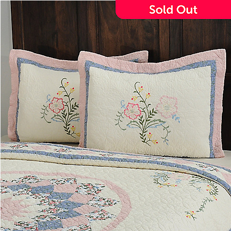 430-320 - North Shore™ Collectible Quilts ''Josie'' 100% Cotton Sham Pair