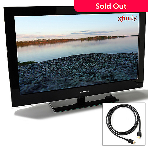 430-399 - Proscan 32'' 720p 60Hz LCD HDTV w/ Built-in DVD Player & 6' HDMI Cable