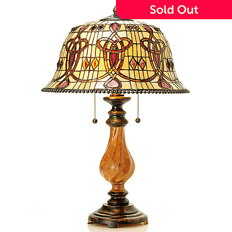 430-447 - Tiffany-Style 24.3'' Chesapeake Stained Glass Table Lamp