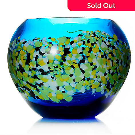 430-472 - Favrile Poppy Field 6.25'' Hand-Blown Art Glass Vase