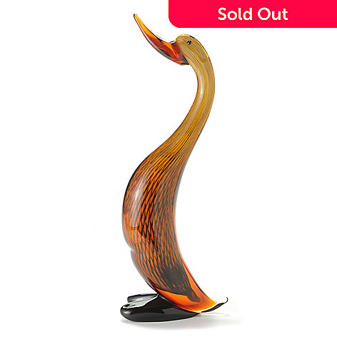 430-479 - Favrile 19'' Hand-Blown Art Glass Duck Figurine