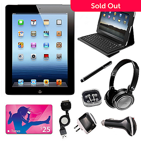 430-492 - Advanced Order - Apple iPad 16GB Wi-Fi Only Tablet Bundle w/ Accessories