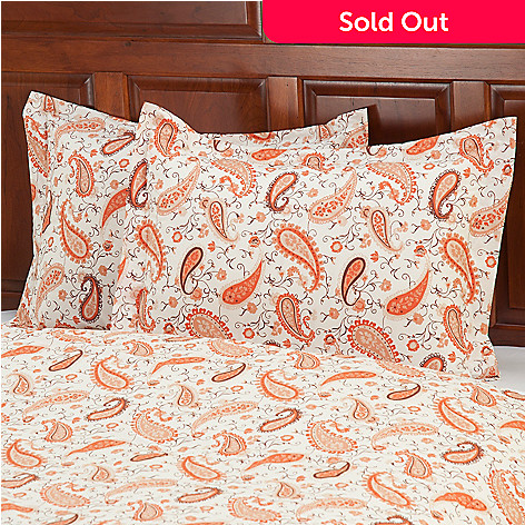 430-666 - Grand Suites® European Made Cotton / Poly Blend Paisley Sham Pair