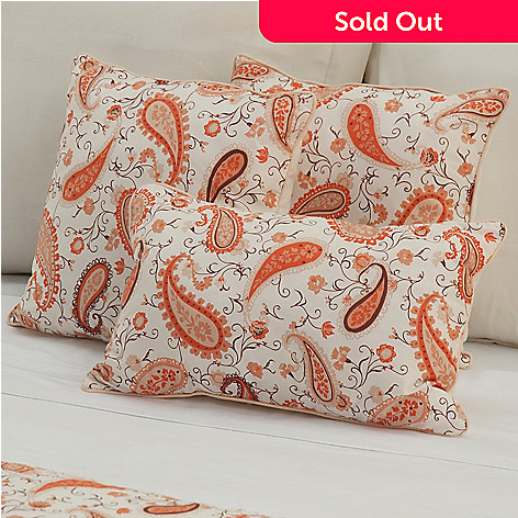 430-669 - European Made Luxury Paisley Three-Piece Decorative Pillow Set