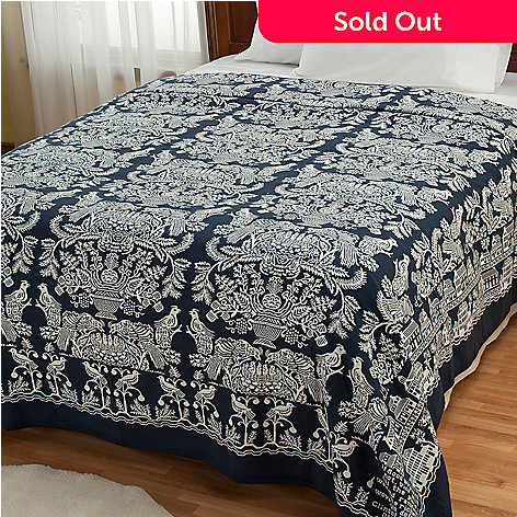 430-676 - Grand Suites® ''Wilmington'' Yarn-Dyed Portuguese Coverlet