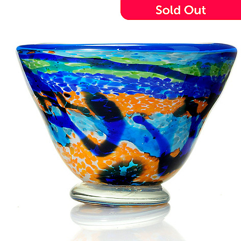 430-690 - Favrile 9-1/2'' Hand-Blown Art Glass Bowl