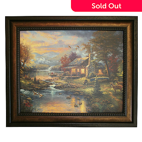 430-710 - Thomas Kinkade ''Nature's Paradise'' Framed Textured Print