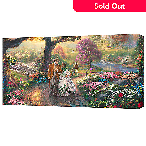 430-712 - Thomas Kinkade ''Gone with the Wind'' Panoramic Gallery Wrap