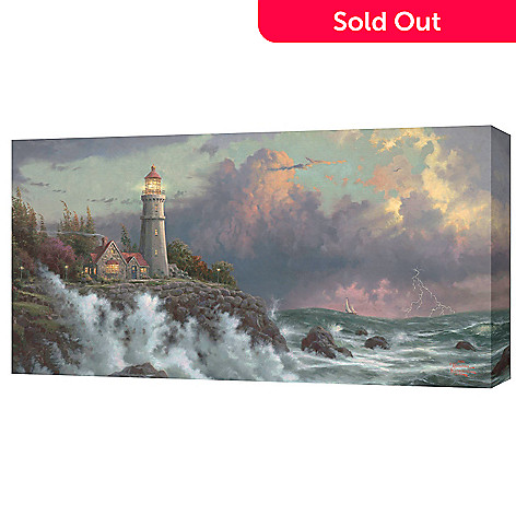 430-716 - Thomas Kinkade ''Conquering the Storms'' 16'' x 31'' Gallery Wrap