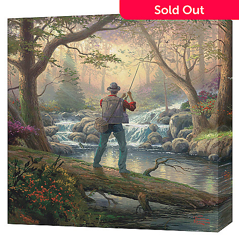 430-720 - Thomas Kinkade ''It Doesn't Get Much Better'' 20'' x 20'' Gallery Wrap