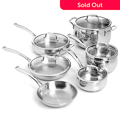 430-912 - Macy's Tools of the Trade® Belgique® 12-Piece Stainless Steel Cookware Set