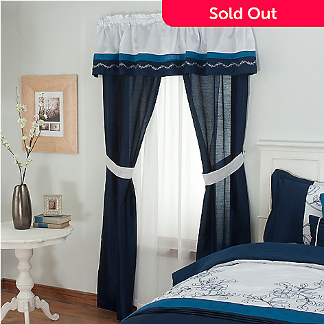 430-948 - North Shore Linens™ ''Printemps'' Five-Piece Window Set