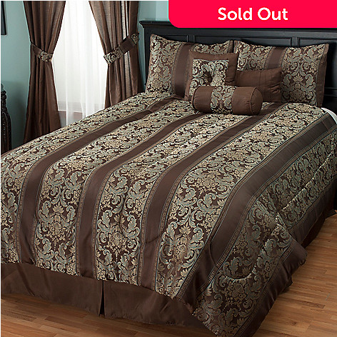 430-949 - North Shore Linens™ ''Murano'' Jacquard Seven-Piece Comforter Set