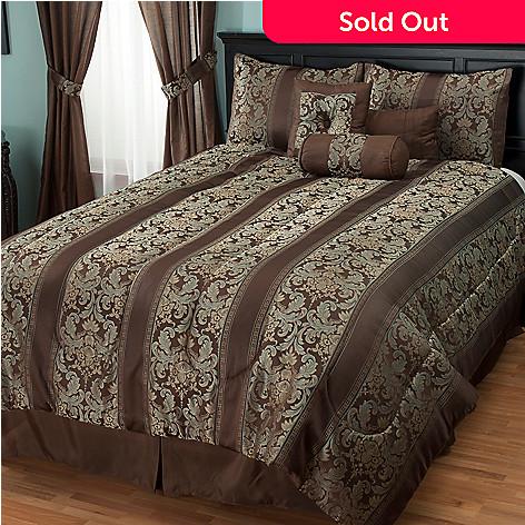 430-949 - North Shore Linens™ ''Murano'' Jacquard Seven-Piece Comforter Set