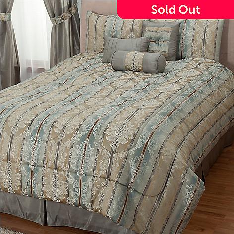 430-958 - Cozelle® ''Newcastle'' Jacquard Seven-Piece Comforter Set