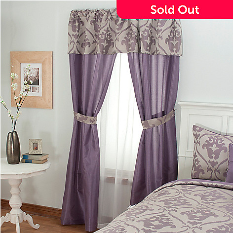 430-963 - North Shore Linens™ ''Christy'' Five-Piece Window Set