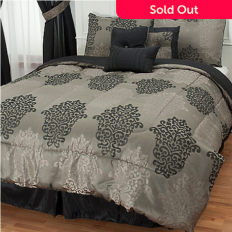 430-964 - North Shore Linens™ Jacquard Seven-Piece Bedding Ensemble