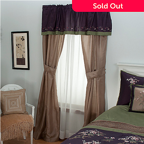 430-969 - North Shore Linens™ ''Arles'' Five-Piece Window Set