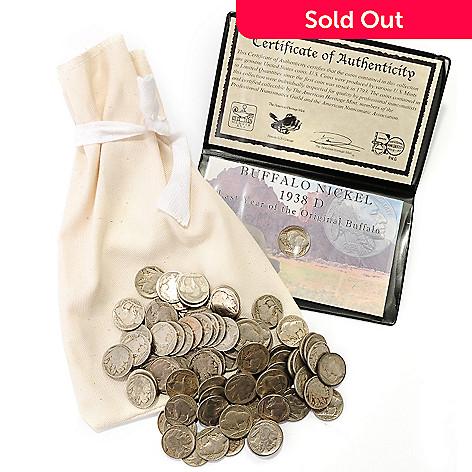 431-004 - One Pound Bag Buffalo Nickels & Guaranteed 1938D Buffalo Nickel