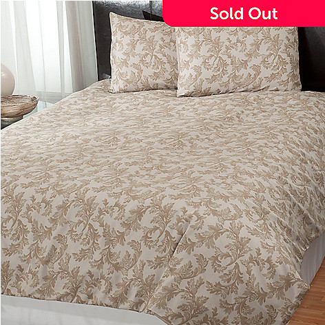 431-017 - Cozelle® ''Acanthus'' Microfiber Three-Piece Duvet Set