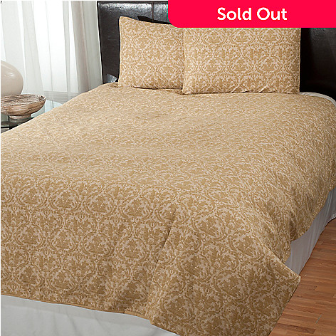 431-023 - Cozelle® ''Damask'' Microfiber Three-Piece Duvet Set