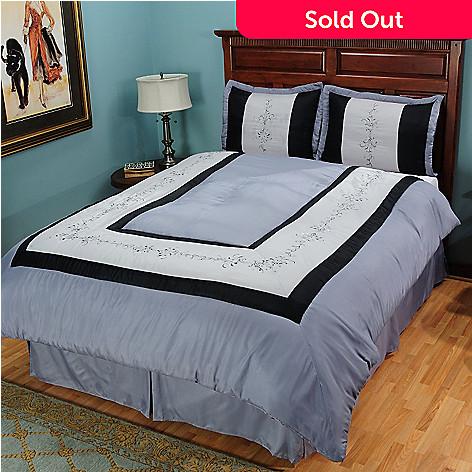 431-028 - North Shore Linens™ ''Regency'' Four-Piece Comforter Set