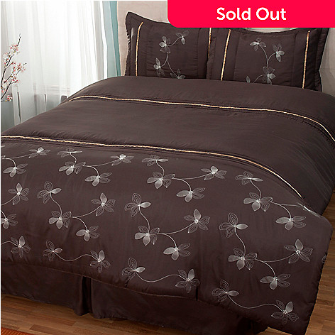 431-030 - North Shore Linens™ ''Leah'' Four-Piece Comforter Set